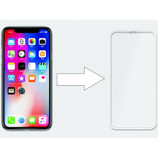 Ainy 3D Full Screen Cover для Apple iPhone X/Xs (белое, 0.2mm)