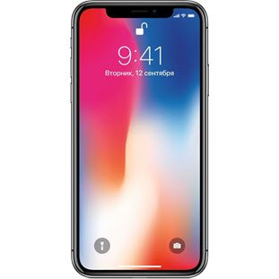 Apple iPhone X (256Gb, space gray, A1901)