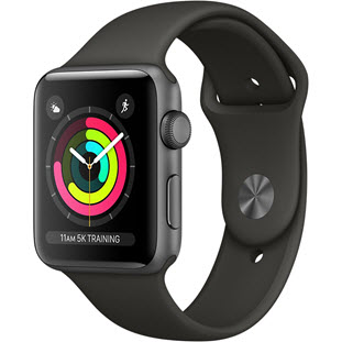 Apple Watch Series 3 42mm (Space Gray Aluminum Case with Gray Sport Band, MR362RU/A)