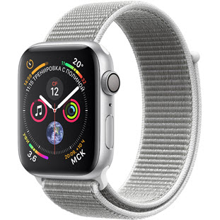 Apple Watch Series 4 GPS 44mm (Silver Aluminum Case with Seashell Sport Loop)