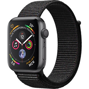 Apple Watch Series 4 GPS 44mm (Space Gray Aluminum Case with Black Sport Loop)