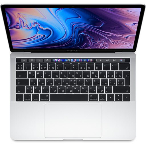 Apple MacBook Pro 13 with Retina display and Touch Bar Mid 2019 (MV9A2RU/A, i5 2.4/8Gb/512Gb, silver)