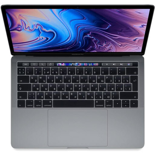 Apple MacBook Pro 13 with Retina display and Touch Bar Mid 2019 (MV972RU/A, i5 2.4/8Gb/512Gb, space gray)