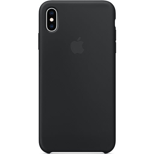 Apple Silicone Case для iPhone XS Max (black, MRWE2ZM/A)