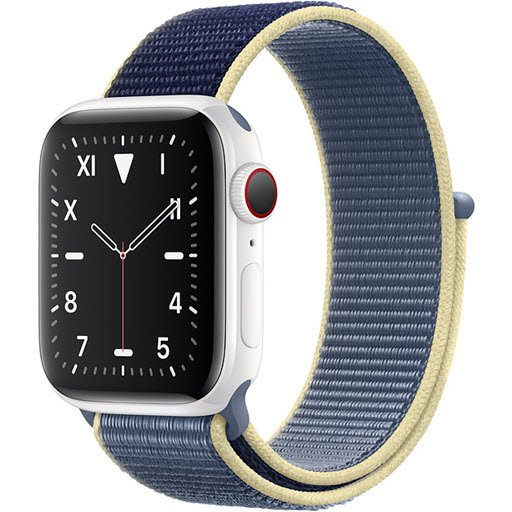 Apple Watch Edition Series 5 GPS + Cellular 44mm (White Ceramic Case with Alaskan Blue Sport Loop)