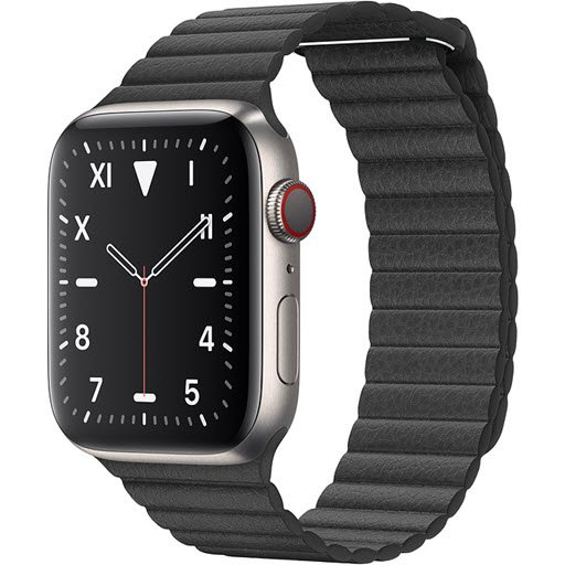 Apple Watch Edition Series 5 GPS + Cellular 44mm (Titanium Case with Black Leather Loop)