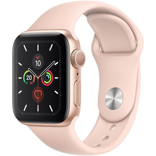 Apple Watch Series 5 GPS 44mm (Gold Aluminium Case with Pink Sand Sport Band, MWVE2RU/A)