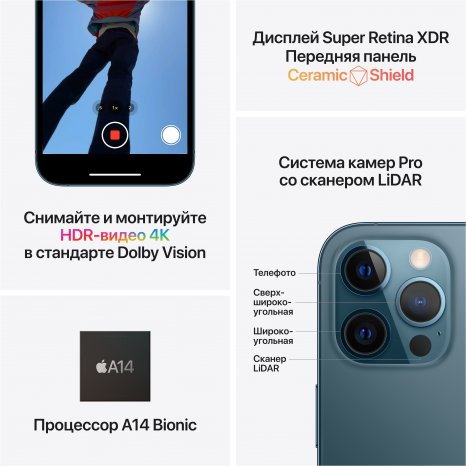 Фото товара Apple iPhone 12 Pro Max (512Gb, Graphite) MGDG3RU/A