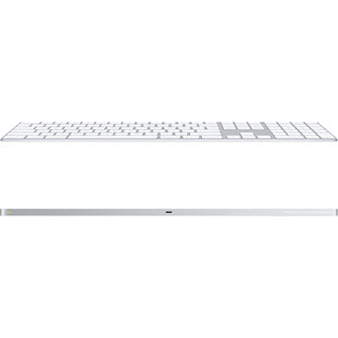 Фото товара Apple Magic Keyboard (with Numeric Keypad, white/silver, ENG/RUS, MQ052RS/A)