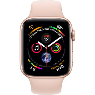 Фото товара Apple Watch Series 4 GPS + Cellular 40mm (Gold Aluminum Case with Pink Sand Sport Band)
