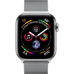 Фото товара Apple Watch Series 4 GPS + Cellular 44mm (Stainless Steel Case with Milanese Loop)