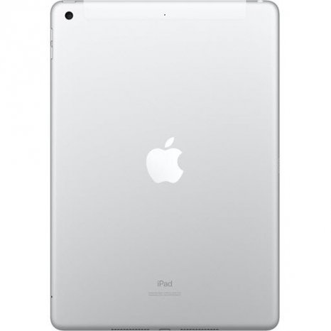 Фото товара Apple iPad 2019 (128Gb, Wi-Fi + Cellular, silver, MW6F2RU/A)