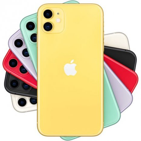 Фото товара Apple iPhone 11 (64Gb, yellow, MWLW2RU/A)