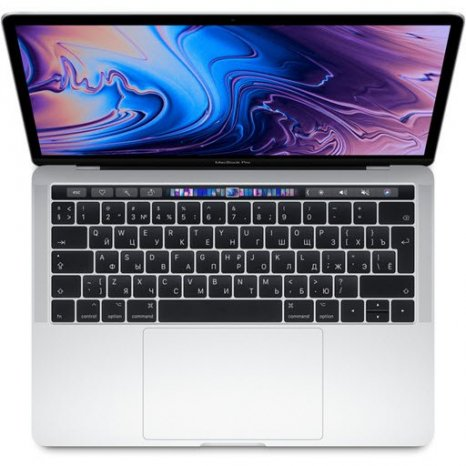Фото товара Apple MacBook Pro 13 with Retina display and Touch Bar Mid 2019 (MV992RU/A, i5 2.4/8Gb/256Gb, silver)