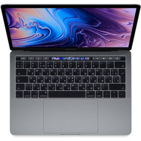 Фото товара Apple MacBook Pro 13 with Retina display and Touch Bar Mid 2019 (MV972RU/A, i5 2.4/8Gb/512Gb, space gray)