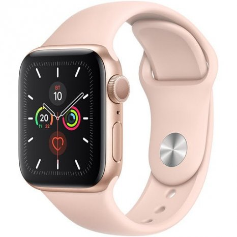 Фото товара Apple Watch Series 5 GPS 44mm (Gold Aluminium Case with Pink Sand Sport Band, MWVE2RU/A)