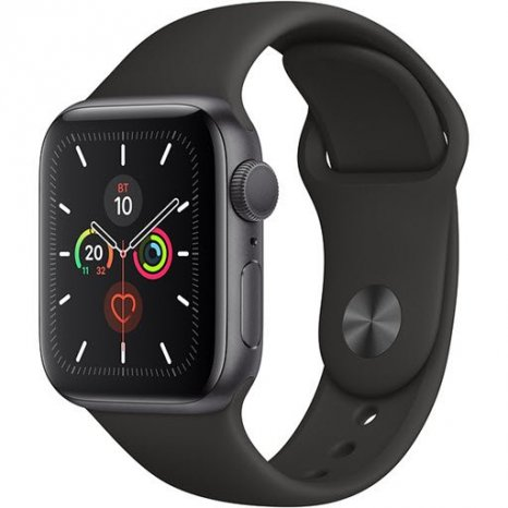 Фото товара Apple Watch Series 5 GPS 44mm (Space Gray Aluminium Case with Black Sport Band, MWVF2RU/A)
