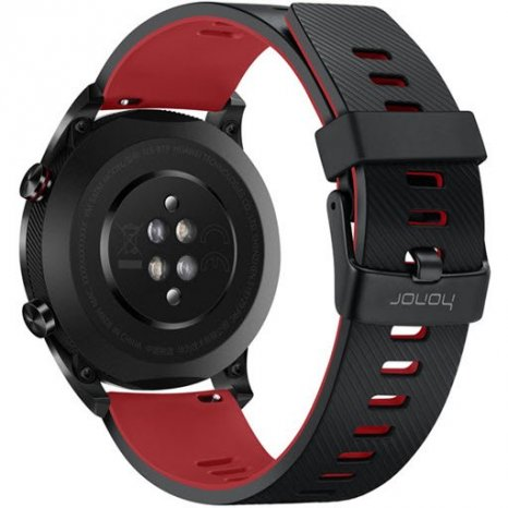Фото товара Honor Watch Magic (stainless steel, silicone strap, TLS-B19, lava black)