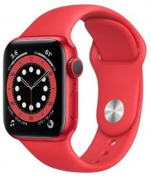 Умные часы Apple Watch Series 6 GPS 44mm (RU, Aluminum Case with Sport Band, (PRODUCT) RED)