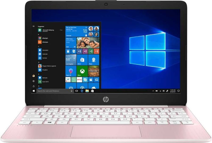 Ноутбук HP Stream 11 CDC N4000 4Gb SSD 64Gb Intel UHD Graphics 600 11,6 HD SVA BT Cam 3900мАч Win10 Розовый(Rose Pink) 11-aj0002ur 8PJ70EA
