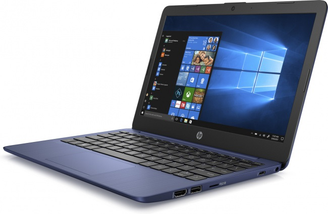 Ноутбук HP Stream 11 CDC N4000 4Gb SSD 64Gb Intel UHD Graphics 600 11,6 HD SVA BT Cam 3900мАч Win10 Синий(Royal Blue) 11-aj0001ur 8PJ71EA
