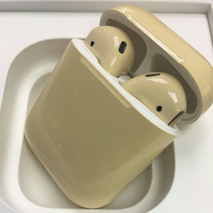 Bluetooth-гарнитура Apple airPods Custom Colors (gloss flesh color)