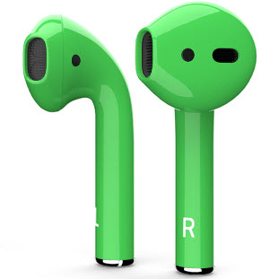 Bluetooth-гарнитура Apple airPods Custom Colors (gloss green)