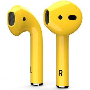 Bluetooth-гарнитура Apple airPods Custom Colors (gloss yellow)
