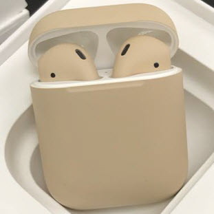 Bluetooth-гарнитура Apple airPods Custom Colors (matt beige)