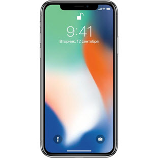 Мобильный телефон Apple iPhone X (256Gb, silver, MQAG2RU/A)
