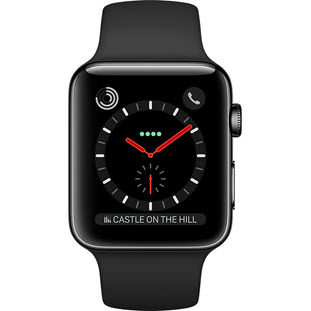Фото товара Apple Watch Series 3 Cellular 42mm (Space Black Stainless Steel Case with Black Sport Band)