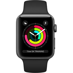 Фото товара Apple Watch Series 3 38mm (Space Gray Aluminum Case with Black Sport Band)