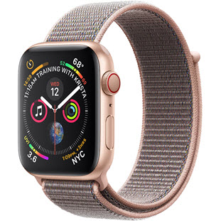Умные часы Apple Watch Series 4 GPS + Cellular 40mm (Gold Aluminum Case with Pink Sand Sport Loop)