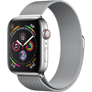 Умные часы Apple Watch Series 4 GPS + Cellular 40mm (Stainless Steel Case with Milanese Loop)