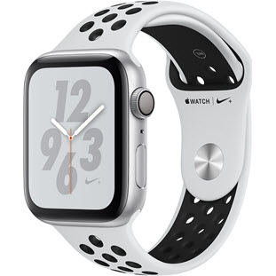 Умные часы Apple Watch Series 4 GPS 40mm (Silver Aluminum Case with Pure Platinum/Black Nike Sport Band, MU6H2RU/A)