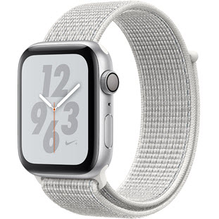 Умные часы Apple Watch Series 4 GPS 44mm (Silver Aluminum Case with Summit White Nike Sport Loop, MU7H2RU/A)