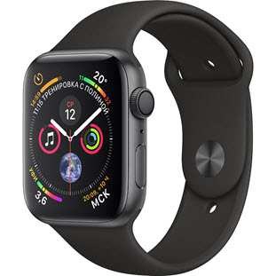 Умные часы Apple Watch Series 4 GPS 44mm (Space Gray Aluminum Case with Black Sport Band)