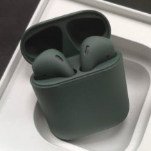 Bluetooth-гарнитура Apple AirPods 2 Color (беспроводная зарядка чехла, Premium matt midnight green)