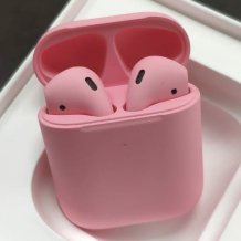 Bluetooth-гарнитура Apple AirPods 2 Color (беспроводная зарядка чехла, Premium matt soft pink)