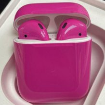 Bluetooth-гарнитура Apple airPods Custom Colors (gloss hot pink)