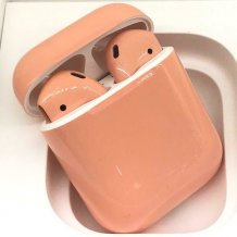 Bluetooth-гарнитура Apple AirPods Custom Colors (gloss peach)