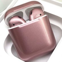 Bluetooth-гарнитура Apple airPods Custom Colors (gloss rose gold)