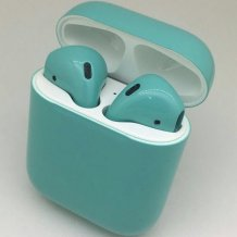 Bluetooth-гарнитура Apple airPods Custom Colors (gloss tiffany)