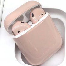 Bluetooth-гарнитура Apple airPods Custom Colors (gloss vanilla)