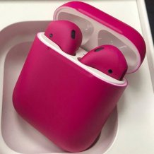 Bluetooth-гарнитура Apple airPods Custom Colors (matt crimson)