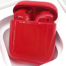Bluetooth-гарнитура Apple airPods Custom Colors (Premium gloss dark red)