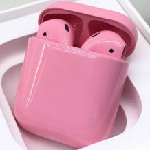 Bluetooth-гарнитура Apple airPods Custom Colors (Premium gloss light pink)