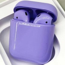Bluetooth-гарнитура Apple airPods Custom Colors (Premium gloss light violet)