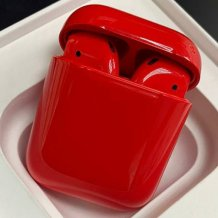 Bluetooth-гарнитура Apple airPods Custom Colors (Premium gloss red)