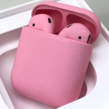 Bluetooth-гарнитура Apple airPods Custom Colors (Premium matt light pink)